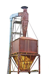 Dust purification cyclone air vortex separation separator, old