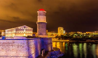 La tour du fanal in the Fort Saint-Jean in Marseille - France