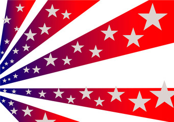 The symbolism of the American flag. Stars and Stripes.