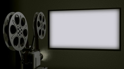 Movie Projector Screen Loop