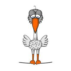 zeichnung trauriger vogel II