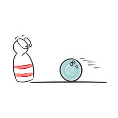 zeichnung bowling kugel und pin I