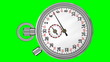 Постер, плакат: Chronometer Stopwatch with Green Screen