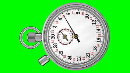 Chronometer Stopwatch with Green Screen