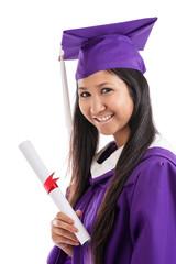 Asian Woman College Graduate
