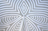 White design on fabric