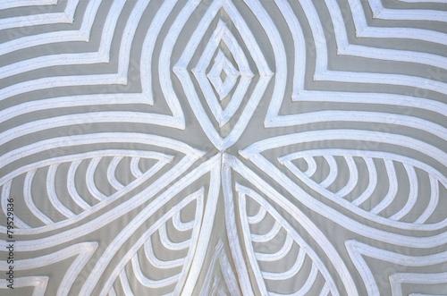 White design on fabric