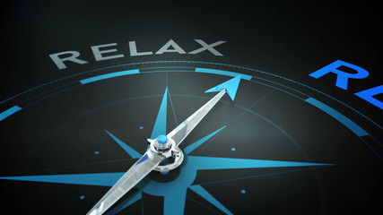 Compass pointing to relax