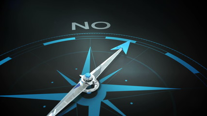 Compass pointing to yes