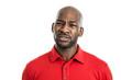 Uncertain black man portrait