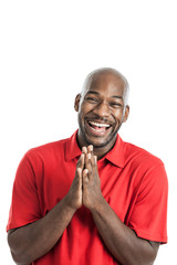 Handsome black man laughing