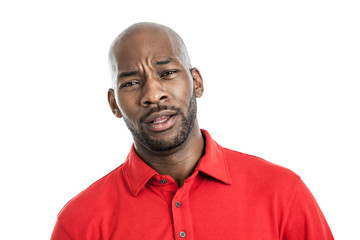 Expressive black man portrait