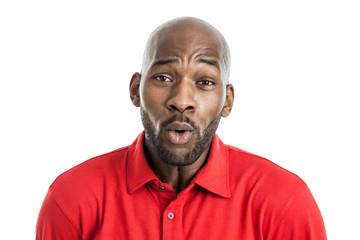 Handsome black man making expression