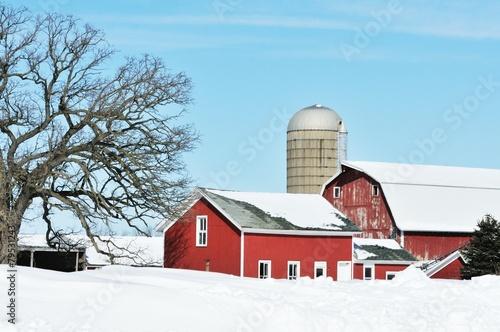 Foto op Plexiglas Cultuur Winter Farm