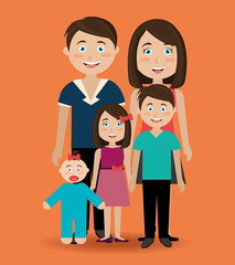 Family design, vector illustration.