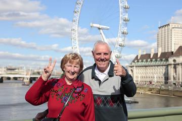 Senior couple in London