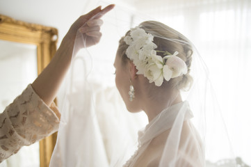 Bride you are over the veil