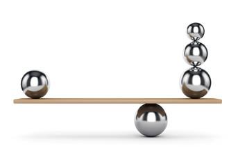 Balance metal balls