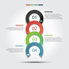 Vector of marketing concept infographic circle element  .