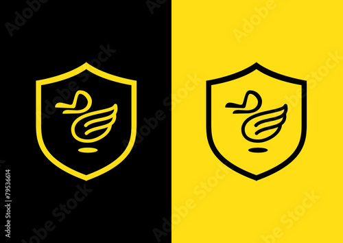 duck fly logo - 79536614