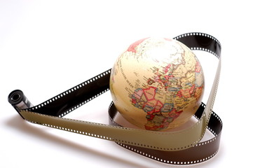 World globe & Film