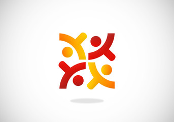 people-abstract-play-happy-team-vector-logo