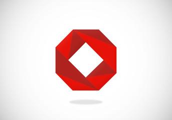polygon abstract shape vector logo