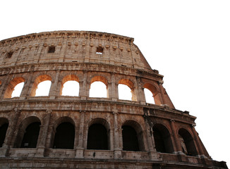 Colosseum isolated. Rome, Italy