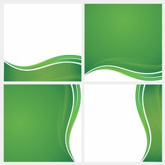 abstract green background template illustration 6