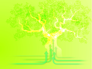 大木と矢印