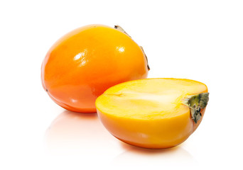 Persimmons. Clipping path included.