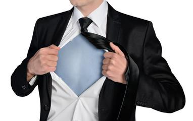 Business man super hero concept