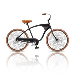 Realistic Bicycle Isolated