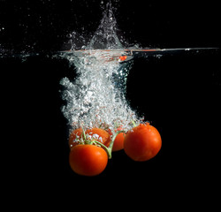 Tomatoes in the water