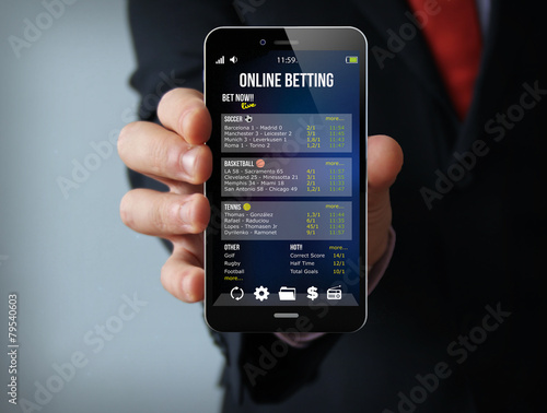 gambling businessman smartphone плакат