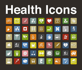 health icons set
