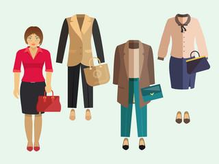 Business Woman Clothes Set