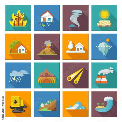 Natural Disaster Icons - 79541681