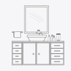 furniture design vector illustration.