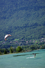 lac du bourget - kite surf