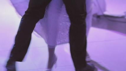 Bride and groom dancing the waltz