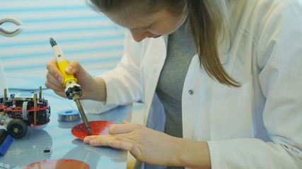 Girl Solder Electronic Device