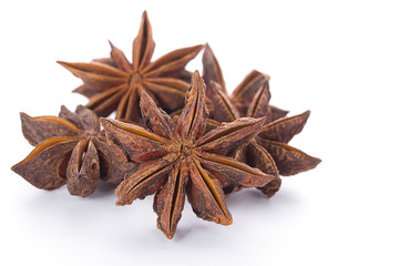 star anise isolated on a white background