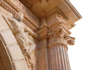 Architectural details palace (XVIII century) Yazlivets, Ukraine