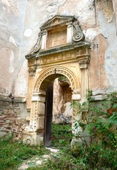 Portal ancient church, Yazlivets, Ukraine