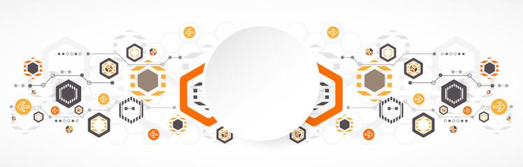 New technology hexagonal business background.
