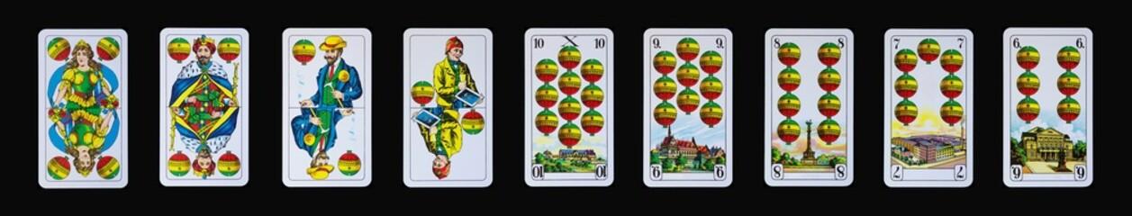 Spielkarteb - Schnapskarten - Schafkopf und Tarock in Schellen