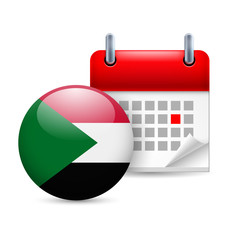 Icon of National Day in Sudan