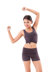 active woman stretching exercise