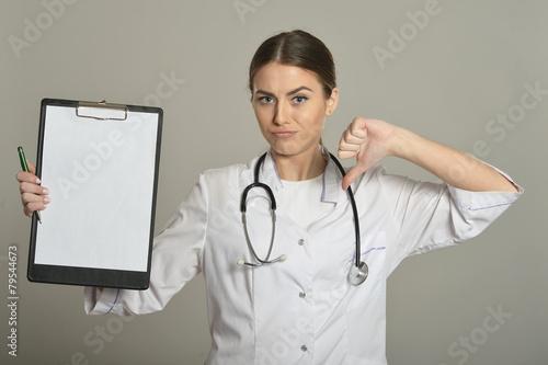 Leinwanddruck Bild doctor show empty blank